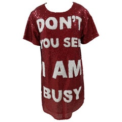 House of Muamua Red Don't you see I am busy? Sequins Dress