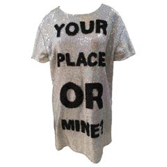 House of Muamua Your place or mine? silver sequins Dress