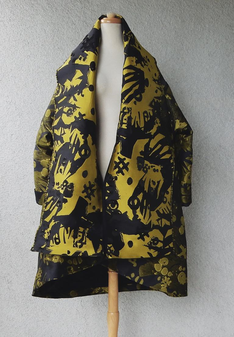 Black House of Poiret Runway Dramatic Oversized Cocoon Evening Coat    NWT