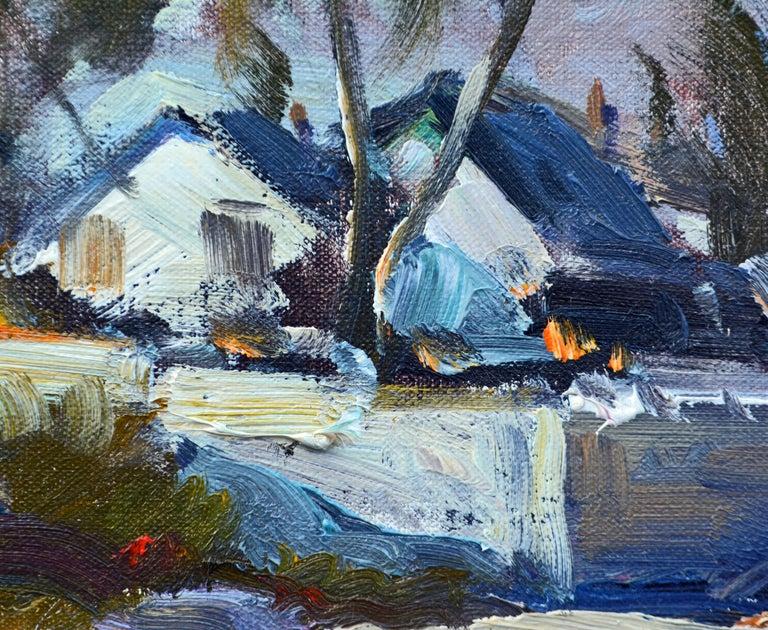 20th Century 'House of Refuge' Stuart, Florida Original Impressionist Oil by Robert C. Gruppe For Sale