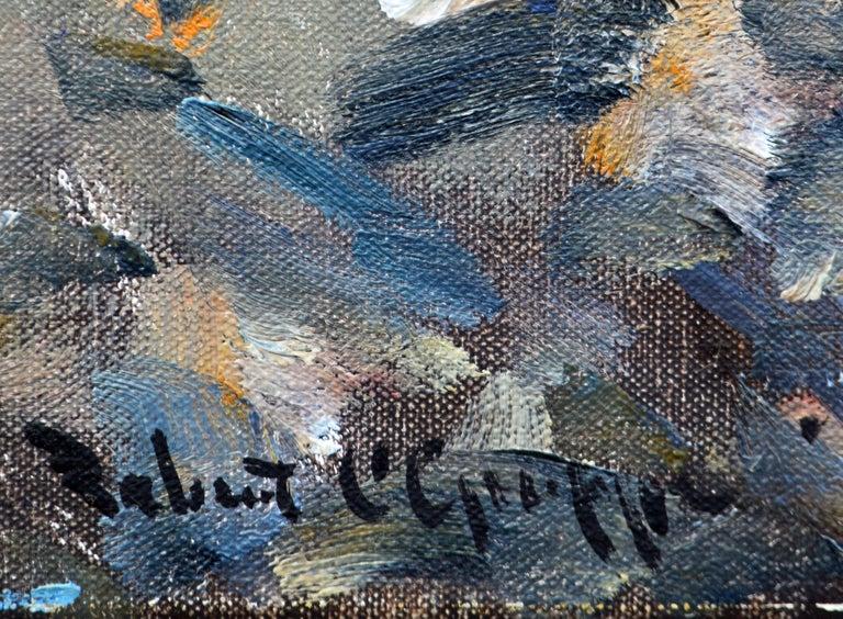 Canvas 'House of Refuge' Stuart, Florida Original Impressionist Oil by Robert C. Gruppe For Sale