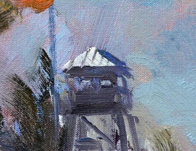 'House of Refuge' Stuart, Florida Original Impressionist Oil by Robert C. Gruppe For Sale 2