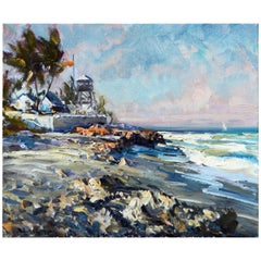 'House of Refuge' Stuart, Florida Original Impressionist Oil by Robert C. Gruppe