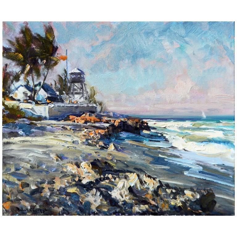 'House of Refuge' Stuart, Florida Original Impressionist Oil by Robert C. Gruppe For Sale