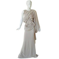 House of Vionnet Iconic Classic Grecian Wrap Runway Dress Gown