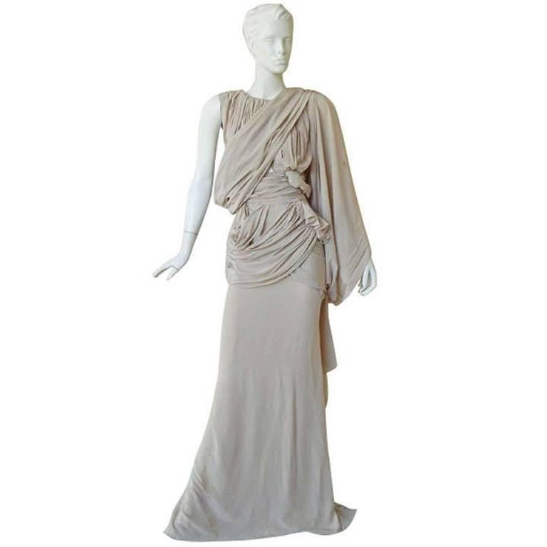 House of Vionnet Iconic Classic Grecian Wrap Runway Dress Gown For Sale