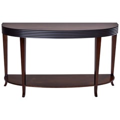 Houston Console, Fluted Band Detail and Gently Tapered and Flared Legs Console