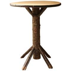 """HOUX"" Table, Christian Astuguevieille, Wooden Chestnut Table"