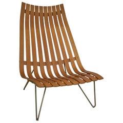 Hove Mobler Stordal Slated Modern Teak Lounge Chair Norway
