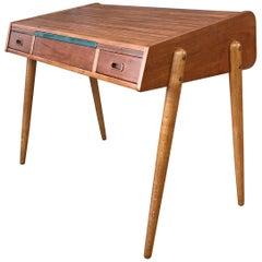 Hovmand-Olsen for Mogens Kold Teak and Oak Roll Top Desk