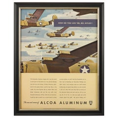"""How Do You Like 'Em, Mister Hitler?"" Alcoa Aluminum WWII Poster, circa 1942"