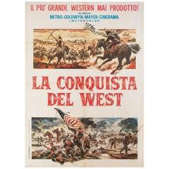 'How the West Was Won' 1964 Italian Due Fogli Film Poster
