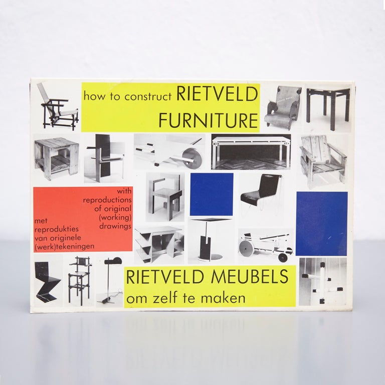 Rietveld Meubels om zelf te maken - How to construct Rietveld Furniture, 1986.  First Edition. Published by Academia Bruylant.  Book with facsimile reproductions of work-drawings. Dutch text.  In good original condition with minor wear