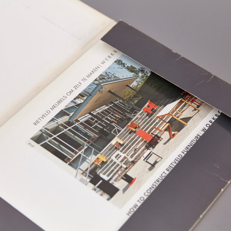 Mid-Century Modern How to Construct Rietveld Furniture Book For Sale