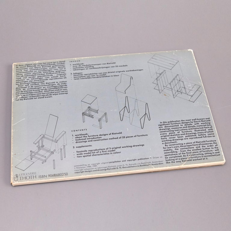 Paper How to Construct Rietveld Furniture Book For Sale