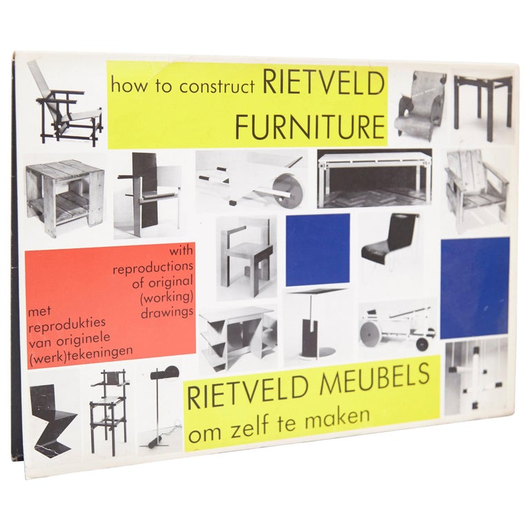 How to Construct Rietveld Furniture Book For Sale