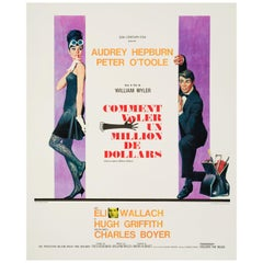 "Audrey Hepburn ""How To Steal A Million"" Vintage French Movie Poster, 1966"