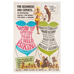 """How to Stuff a Wild Bikini"" 1965 U.S. One Sheet Film Poster"