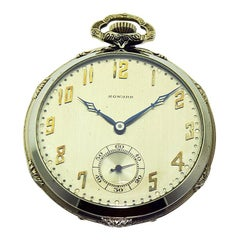 Howard 14 Karat Solid Gold Open Faced Pocket Watch from