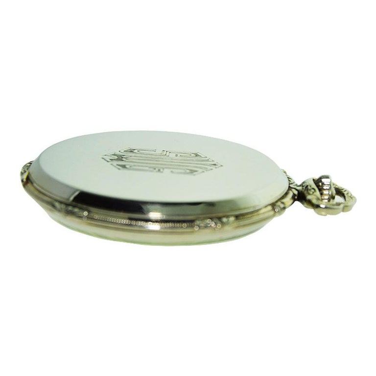 Howard 14 Karat Solid Gold Open Faced Pocket Watch from For Sale 4