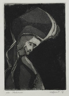 """""""Palemon"""" 1975 Abstracted Figure Etching"""