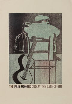 """The Pain Monger Duo at the Gate of Gut"" 1960-70s Serigraph"