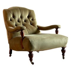 Howard and Sons Style Open Armchair England Circa 1870