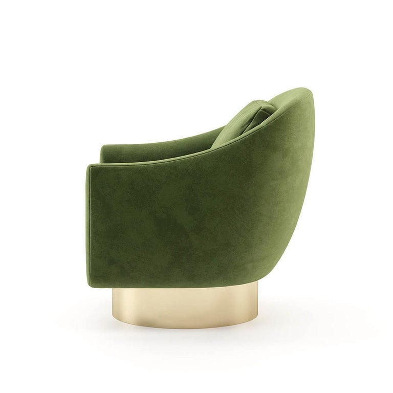 Howard Armchair with Green Velvet Fabric In New Condition For Sale In Paris, FR