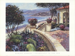 1999 After Howard Behrens 'Promenade to the Sea' Contemporary Offset Lithograph
