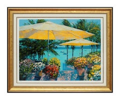 Howard Behrens Giclee Flowers By The Sea Signed Art Floral Art