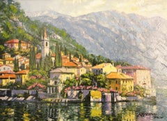 Reflections of Lake Como-Framed Limited Edition Giclee on Canvas, Signed