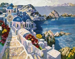 SANTORINI AFTERNOON (EMBELLISHED)