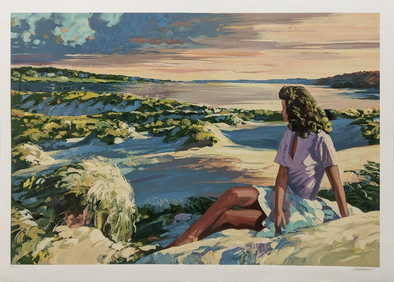Howard Behrens Figurative Print - SUMMER SUNSET