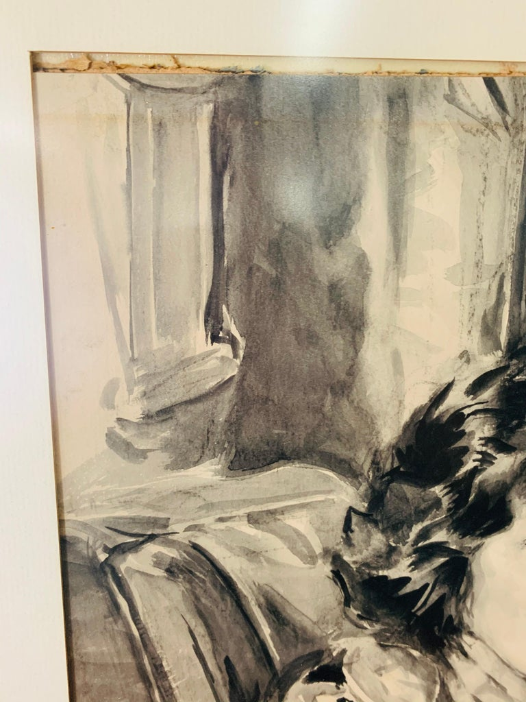 Howard Chandler Christy Portrait of a Woman 1940, Signed, Dated and Framed For Sale 6