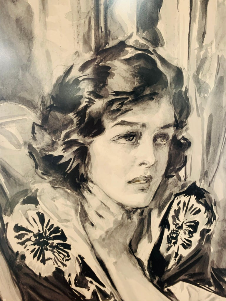American Howard Chandler Christy Portrait of a Woman 1940, Signed, Dated and Framed For Sale