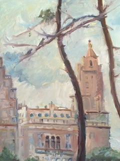 Across Central Park, Painting, Oil on MDF Panel