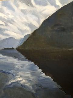 Diamond Shape Reflection, Painting, Oil on Canvas