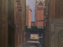 Down the Lane, Oil Painting on MDF Panel