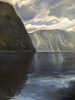 Fjord Reflection, Painting, Oil on Canvas