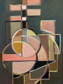 Guitar Abstracted, Painting, Oil on MDF Panel
