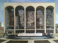 Lincoln Center No 1, Painting, Oil on Canvas