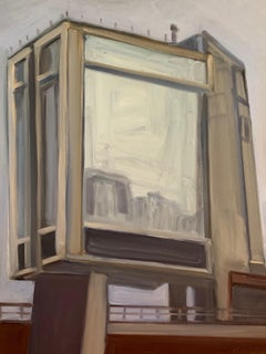 Looking Up at the Standard Hotel, Painting, Oil on MDF Panel