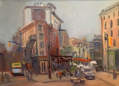 Meat Packing District NYC, Painting, Oil on MDF Panel