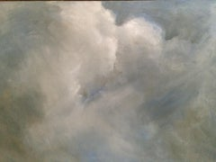 Moody Sky No 9, Painting, Oil on MDF Panel