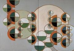 Novo Spheres Rising, Painting, Oil on Glass