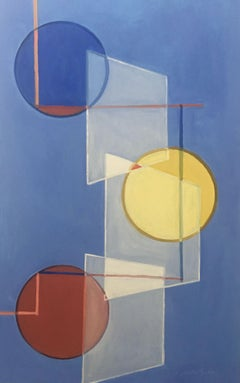 Primary Spheres, Painting, Oil on Canvas