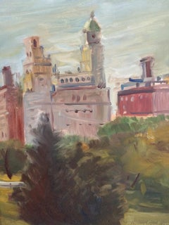 The East Side of Central Park, Painting, Oil on MDF Panel