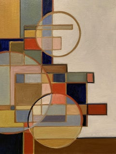 Three Transparent Circles, Painting, Oil on Canvas
