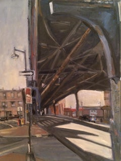 Under The Tracks, Painting, Oil on MDF Panel