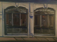 Window Reflections, Oil Painting on MDF Panel